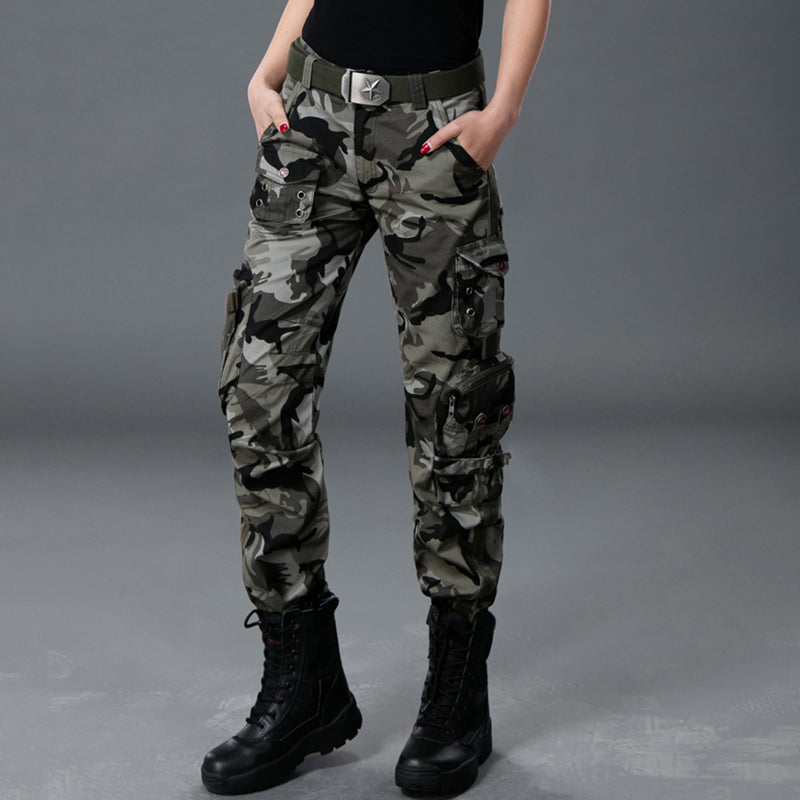 JXG Men Outdoor Sports Multi Pockets Dungaree Fleece Lined Cargo Pants