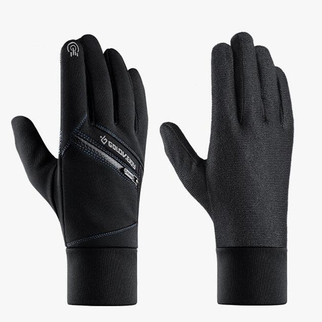 Thick Warm Cycling Zip Pocket Men Women Gloves