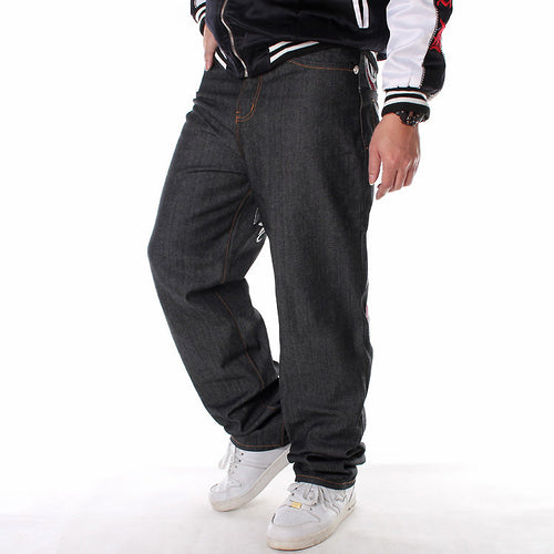 Trendy Plus Size Hip-hop Men Straight Pants