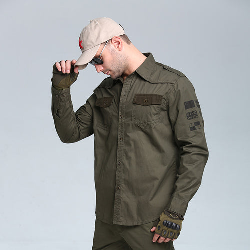 Outdoor Tactics Cotton Army Shirt Men's Thin Coat