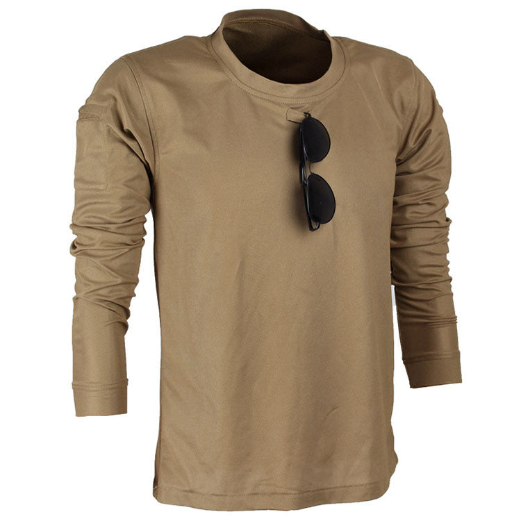 Outdoor Loose Elasticity Sweat Long-sleeved Men T-shirt