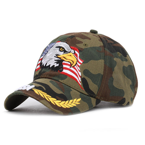 Eagle Embroidered Baseball Cap Men USA Flag Cap