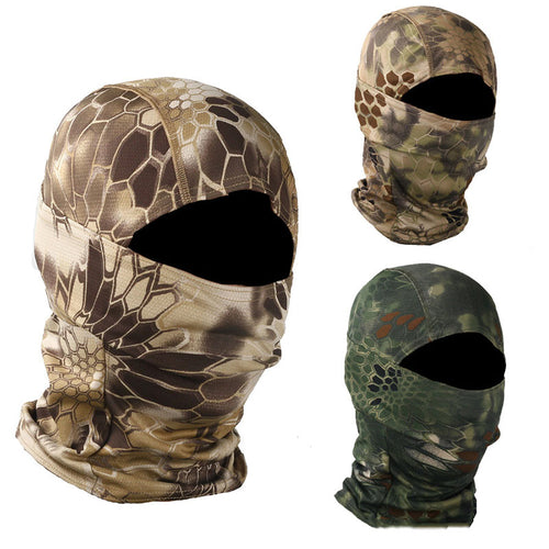 Outdoor Sun Protection Python Pattern Tactical Face Cover