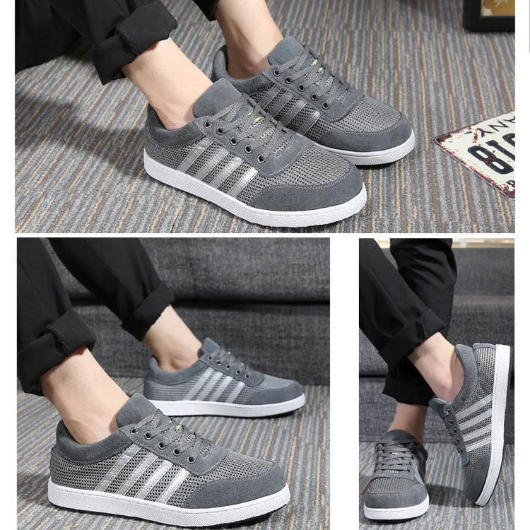 Smart Breath Safety Shoes for Men, Fly-knit and Leather Steel Toe Work Shoes Sport Shoes