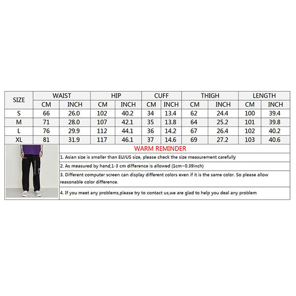 Printed Ribbon 3D Pocket Elastic Waist Men's Pants