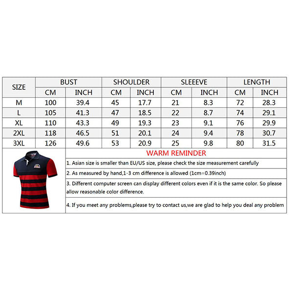 Embroidered Plus Size Lapel Men's Polo T-shirt - KINGEOUS