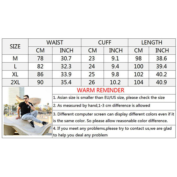 Cotton Running Fitness Men's Ankle Banded Pants - KINGEOUS