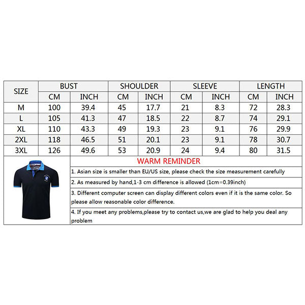 Embroidery Short Sleeve Lapel Men's Polo T-shirt