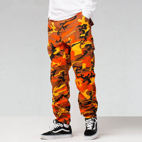 Fashion Casual Baggy Cotton Multi Pockets Men and Women Pants