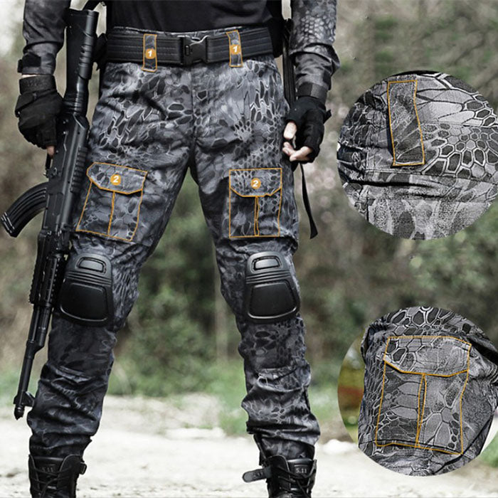 Tactical Pocket Python Men's Pants(with Knee Pads)