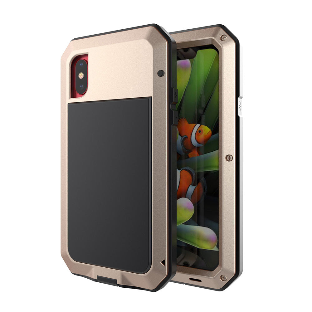 Aluminum Metal Three Layered Protection Phone Case for iPhone X - KINGEOUS