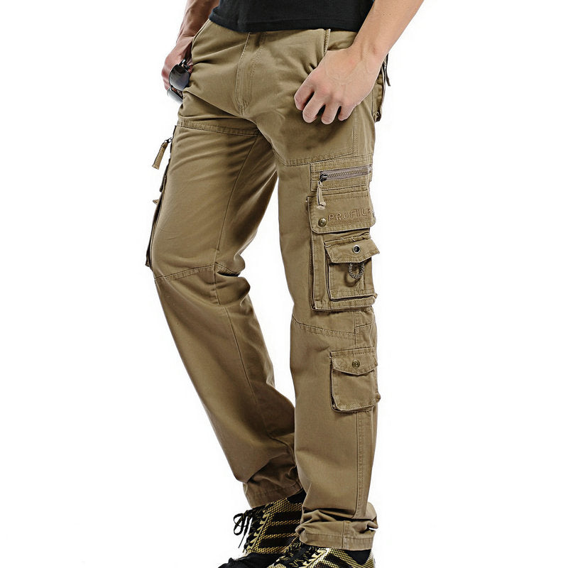 ee219674 Regular Cotton Multi-Pocket Men Cargo Pants – TANGEEL