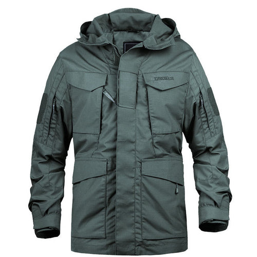 Multi-pocket Solid Color Men Coat