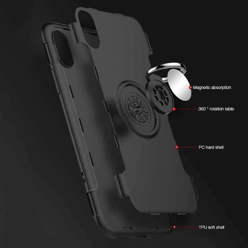 size 40 3b02e c1d3c Shockproof Ring Holder Car Magnet Case for iPhone X – TANGEEL