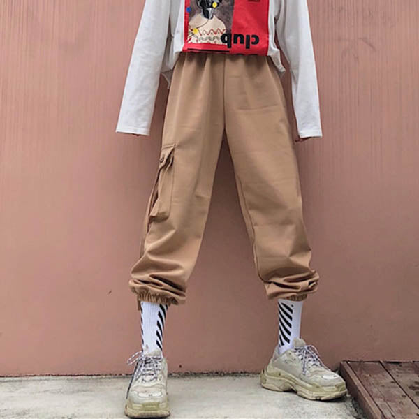 Hip-hop Ankle Banded Thicken Women's Couple Pants