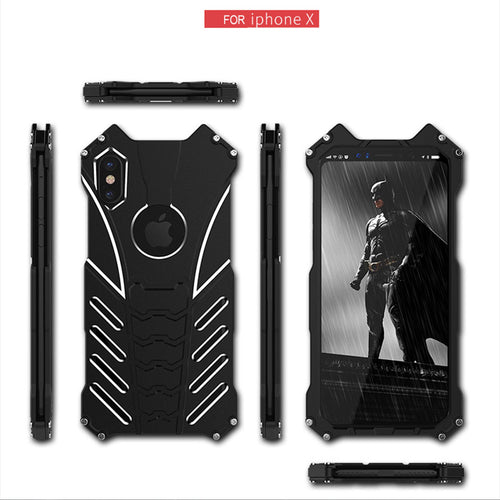 Iphone-X Batman Designs Around Protection Aircraft-Grade Aluminum Phone Case