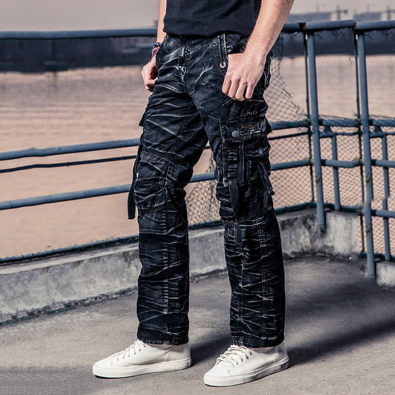 Fashion Casual  Pocket Cotton Men's Cargo Pants - KINGEOUS