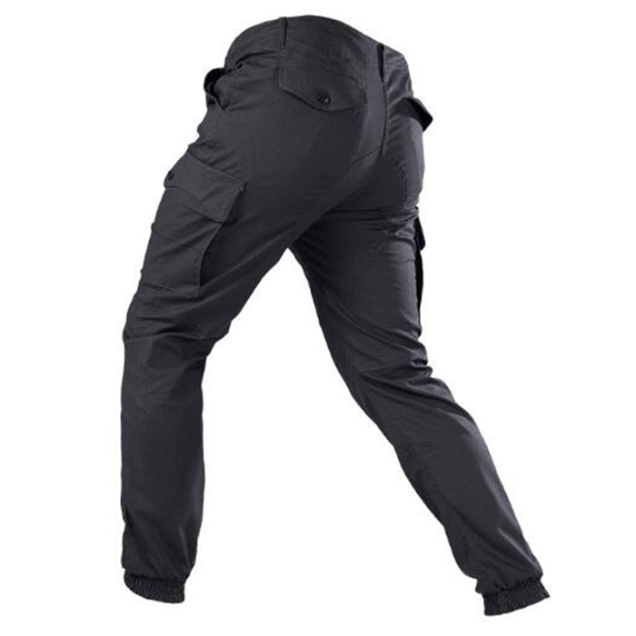 Elastic Multi-pocket Ankle-tied Cargo Men's Pants - KINGEOUS