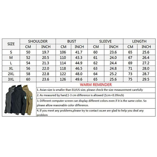 Waterproof Windproof Breathable Plush Hiking Men's Jacket(No Armband)