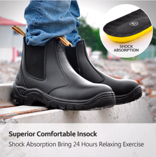 Waterproof Breathable Shock Absorption EVA Insole Men's Shoes