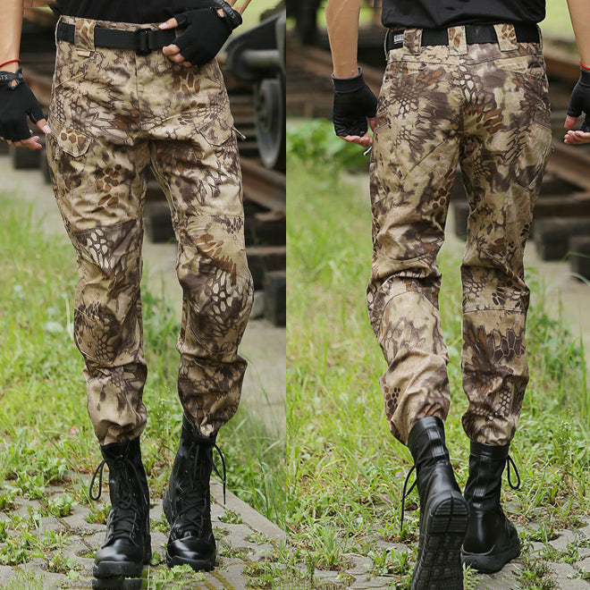 Outdoor Python Pattern Tactical Pocket Men's Cargo Pants