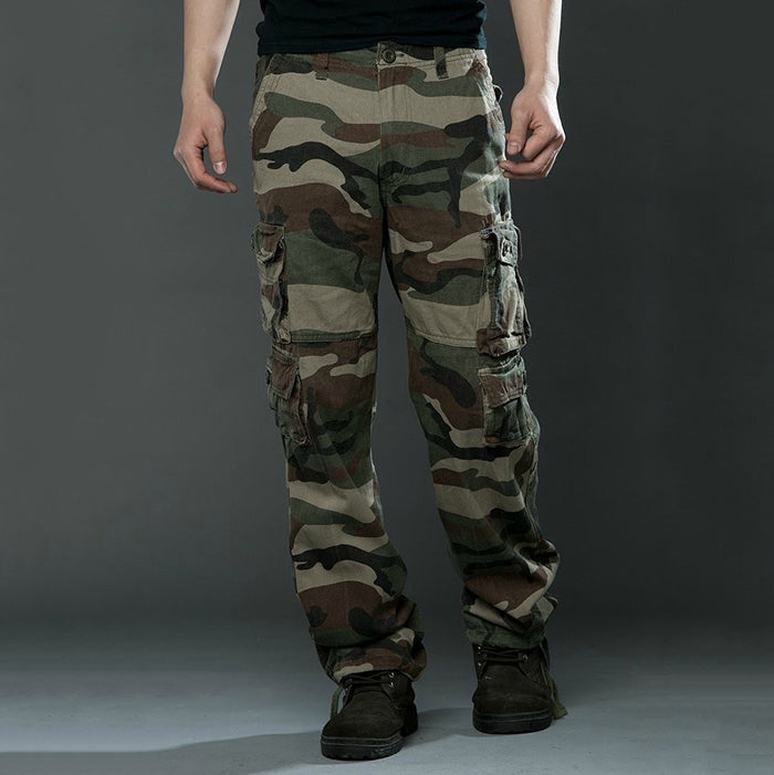 Outdoor Climbing Leisure Camo Pure Cotton Multi-Pocket Men's Pants