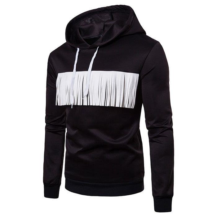 European Size Fringed Style Men's Hoodie