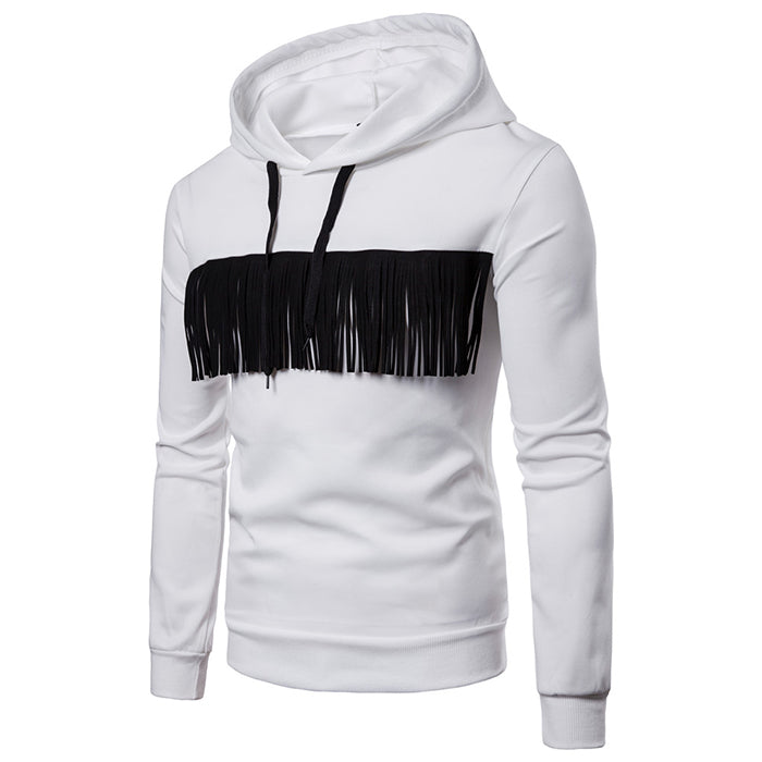 European Size Fringed Style Men's Hoodie - KINGEOUS