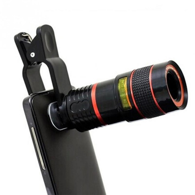 Universal 8X 12X Optical Zoom Telescope Camera Lens Clip Mobile Phone Telescope