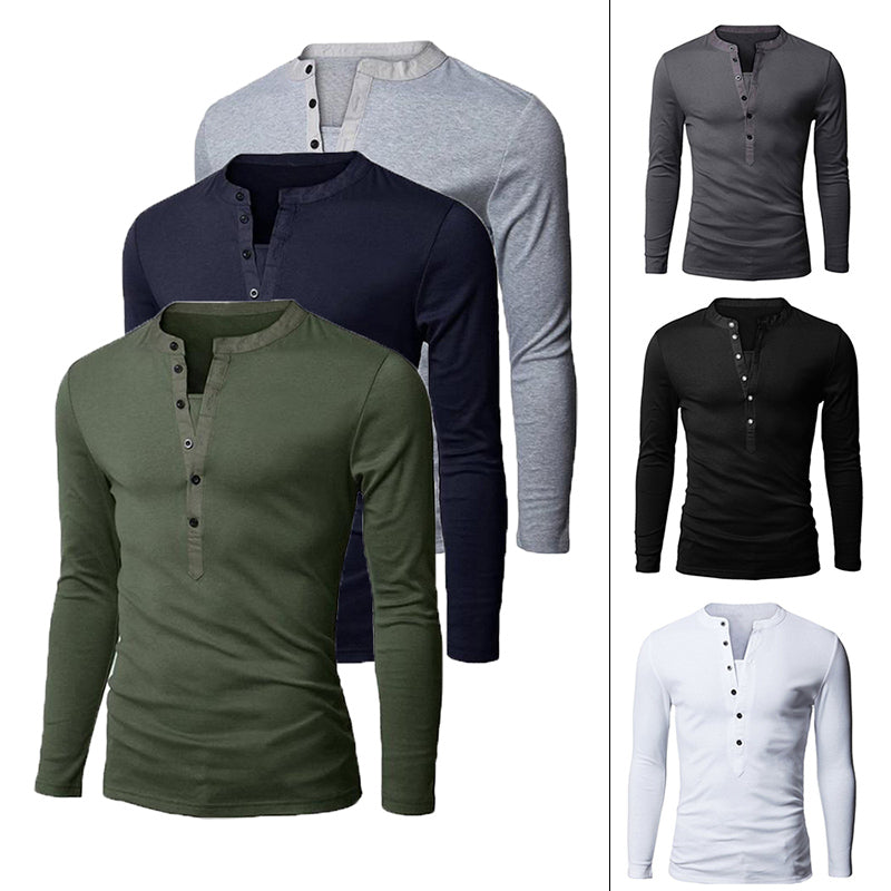 Fashion Urban Slim Layerd-Look Long Sleeve Men's T-shirt