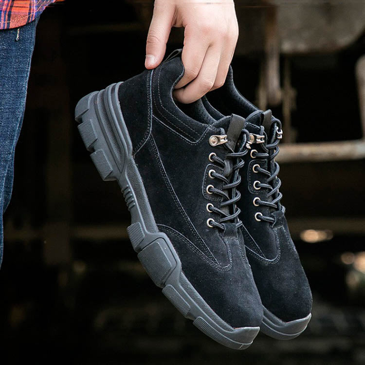 Anti-smashing Anti-slip Leather Anti-static Safety Shoes - KINGEOUS