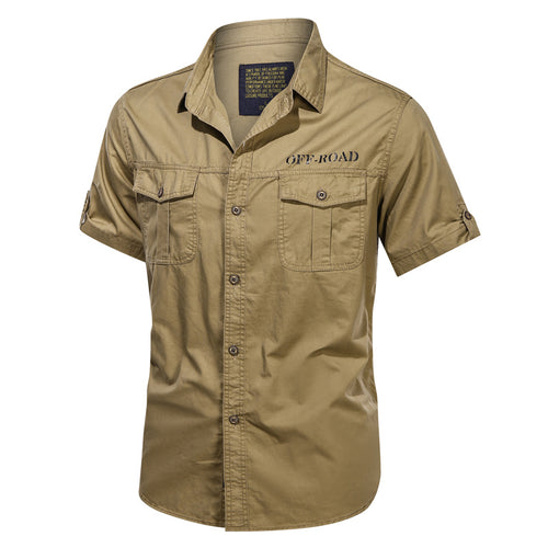 Pure Cotton Casual Men's Short-sleeve Shirts
