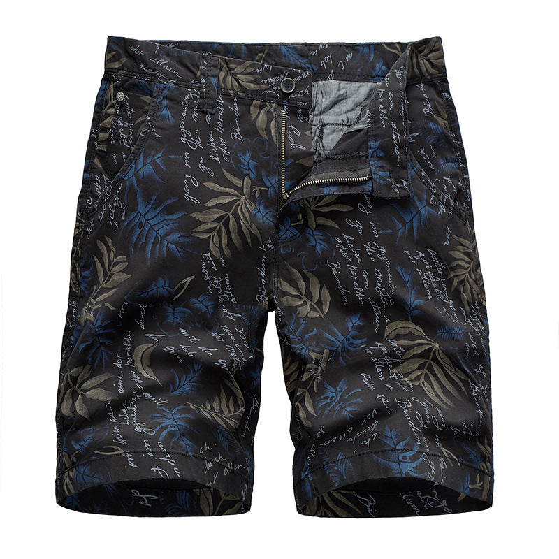 New Men's Leaves Printed Beach Shorts