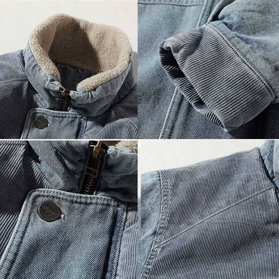 Loose Thicken Stand Collar Men's Casual Outwear