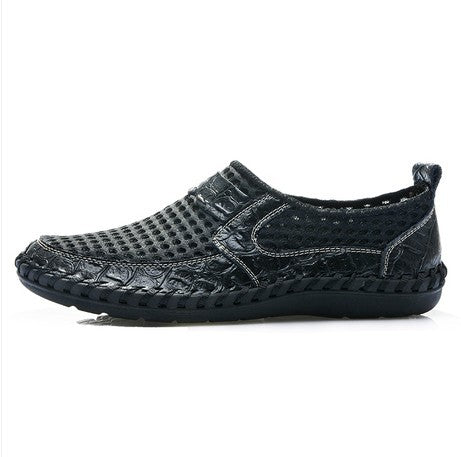 Cuasal Soft Mesh Leather Men's Shoes