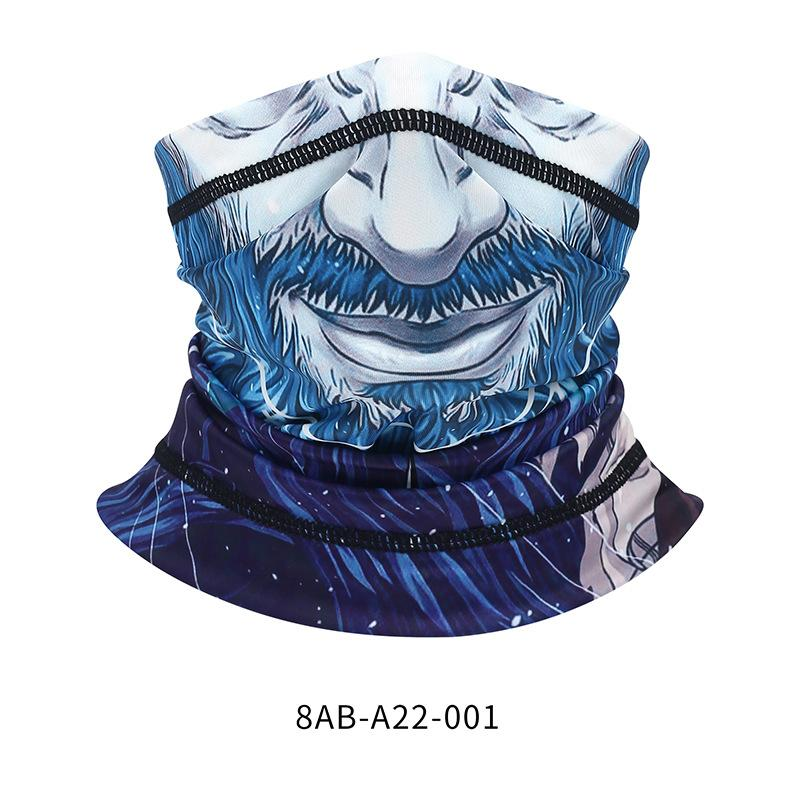 Outdoor Fashion Magic Printing Dustproof Riding Men And Women Half Face Scarf