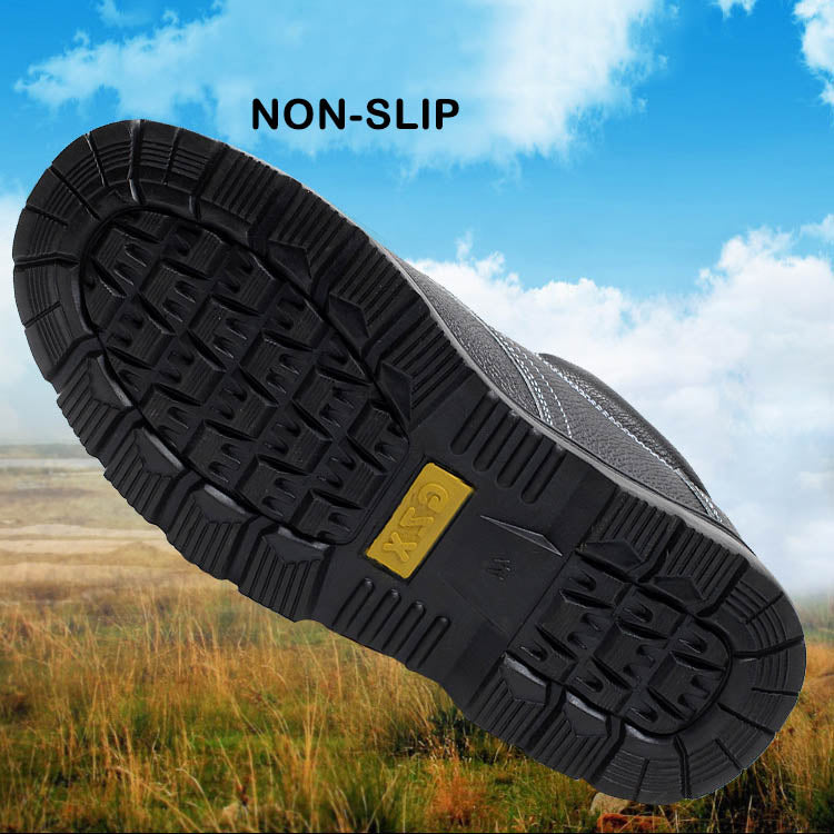 Four Seasons Anti-smashing Anti-piercing Puncture Oil-resistant Acid-alkali Safety Shoes