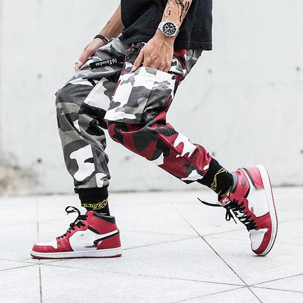 Hip-Hop Harajuku Camo Multi-pocket Men's Pants