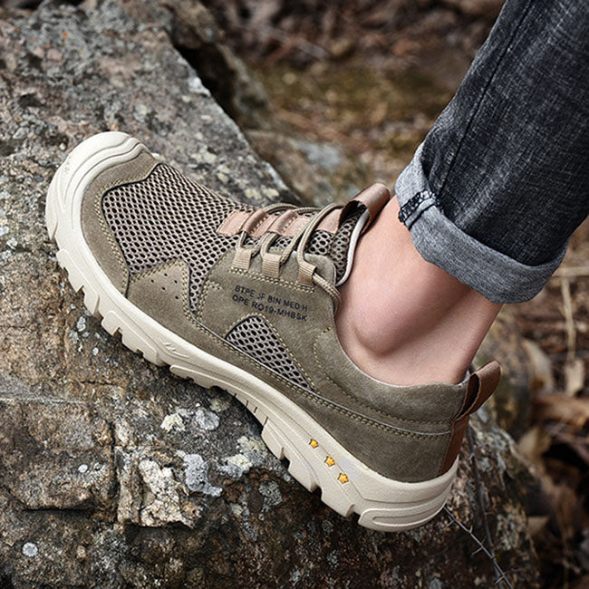 Outdoor Leisure Soft Bottom Breathable Hiking Men's Shoes
