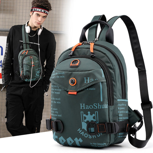 Outdoor Fashion Waterproof Chest Bag Men's Backpack