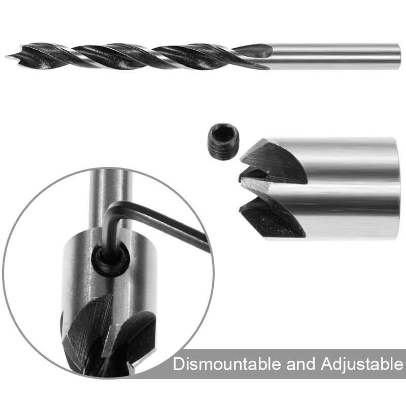 Flute Counter Sink Drills Bit Reamer Set For Woodworking Chamfer 3-10mm