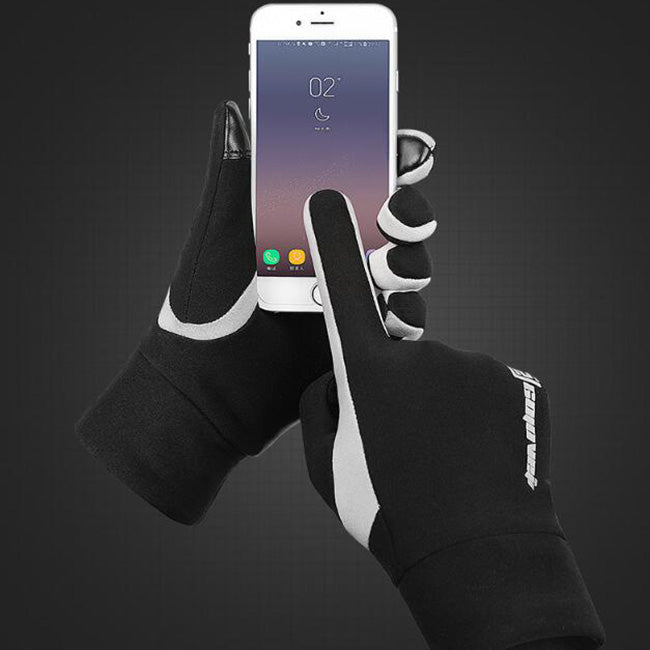 Winter Windproof Cycling Warm Plus Velvet Men Women Gloves