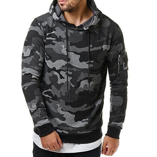Fashion Sports Camouflage Men's Hoodie