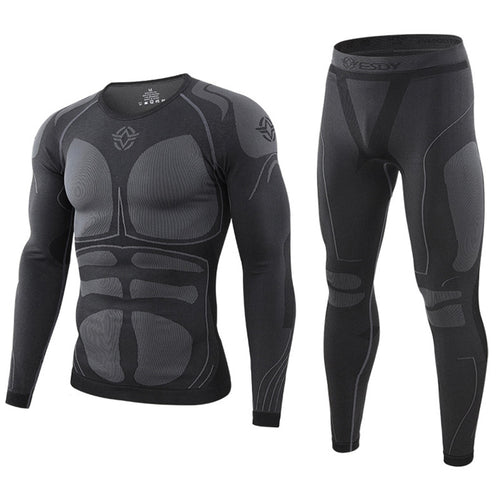 Sports Seamless Compression Men's Thermal Underwear Set