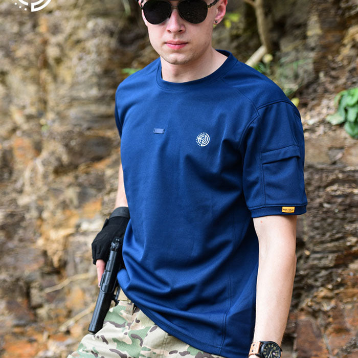 Summer Round Neck Quick-drying Tactical Training Men's T-shirt