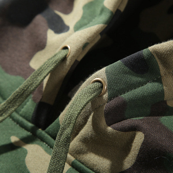 Camo Loose Casual Couple Thicken Men Hoodie