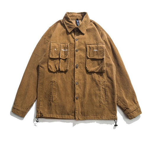 Causal Solid Color Lapel Long Sleeve Men's Jacket
