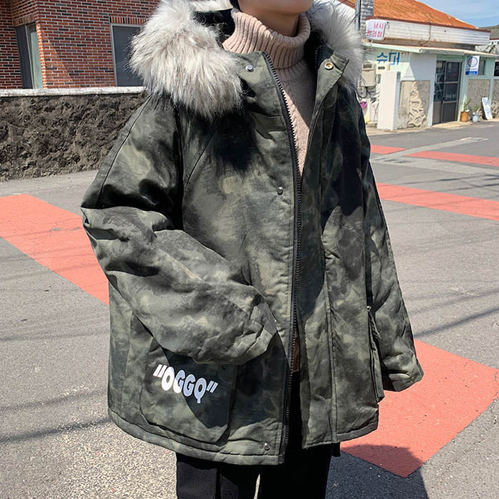 Loose Thicken Hooded All-match Men's Casual Outwear