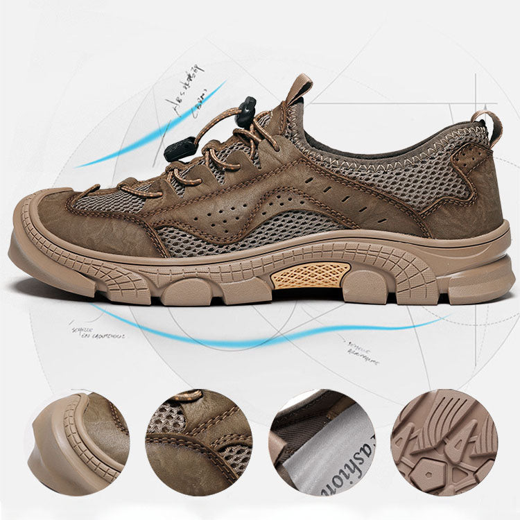 Casual Leather Retro Breathable Mountaineering Men's Shoes