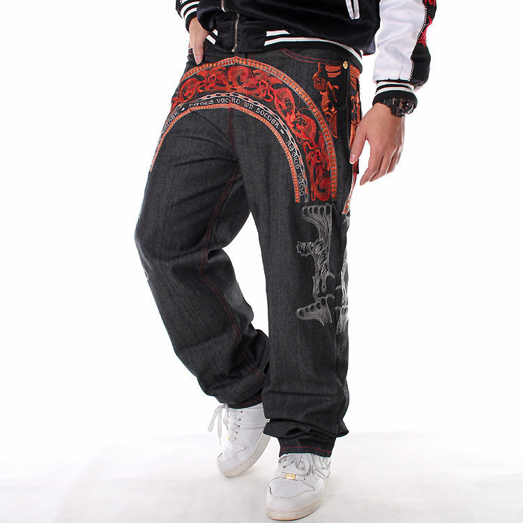 Fashion Embroidered Casual Skate Men pants